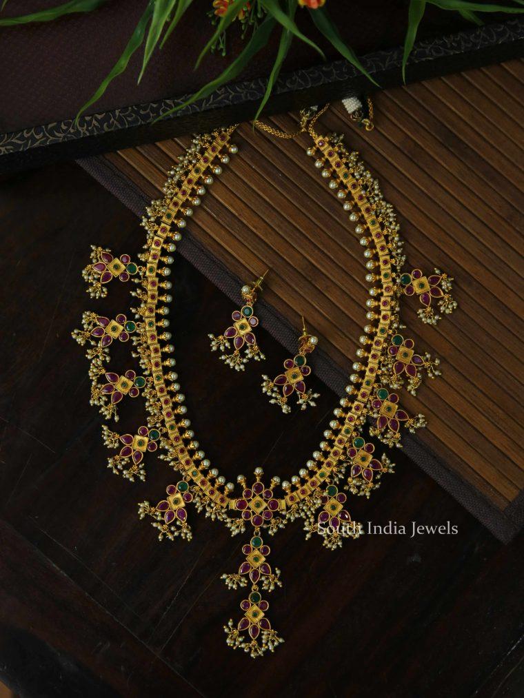 Classic Guttapusalu Multi stone Necklace
