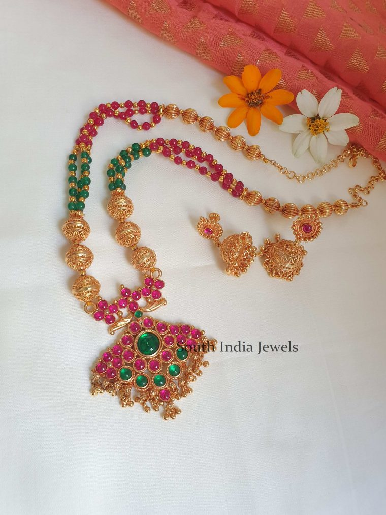 Classic Kemp Necklace and Jhumkas