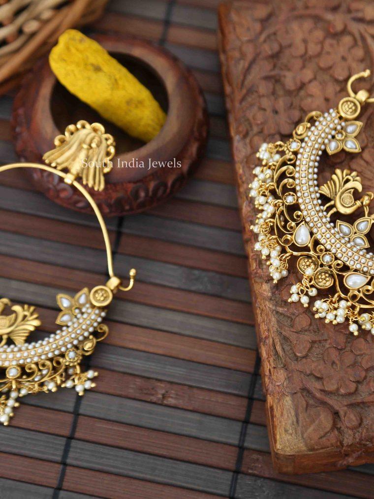 Classy Chandbali Pearl Earrings - 01