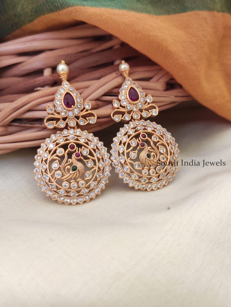 Elegant CZ Matte Earrings