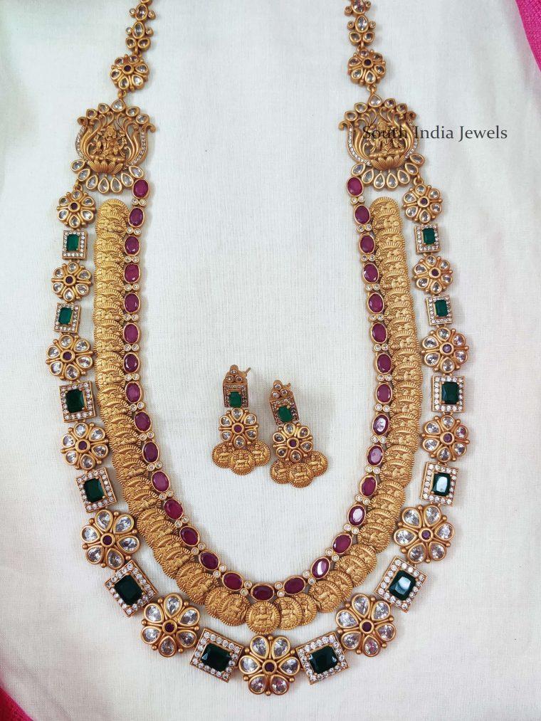 Elegant Double Layer Lakshmi Kasu Haram