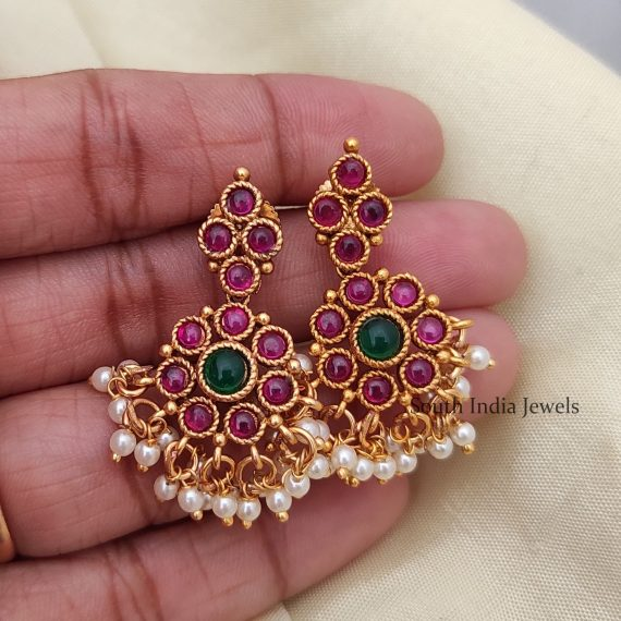 Elegant Kemp Attigai Necklace with Earrings-02