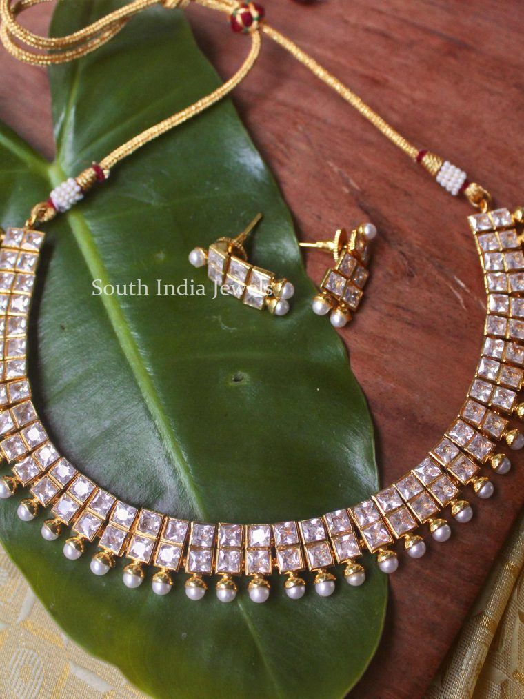 Elegant White Stone Necklace