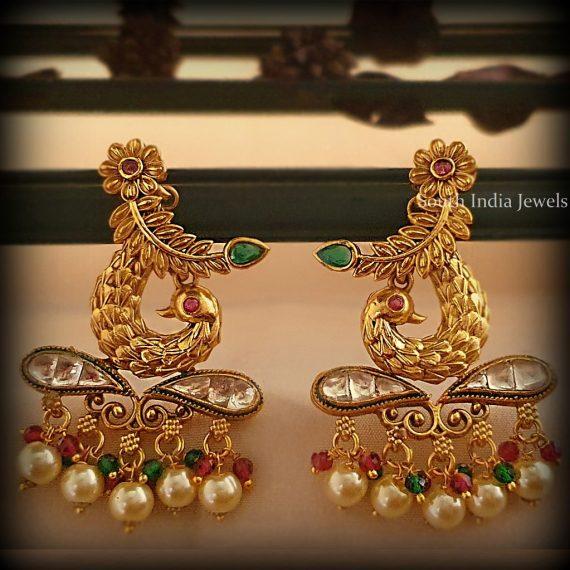 Ethnic Peacock Design Earrings