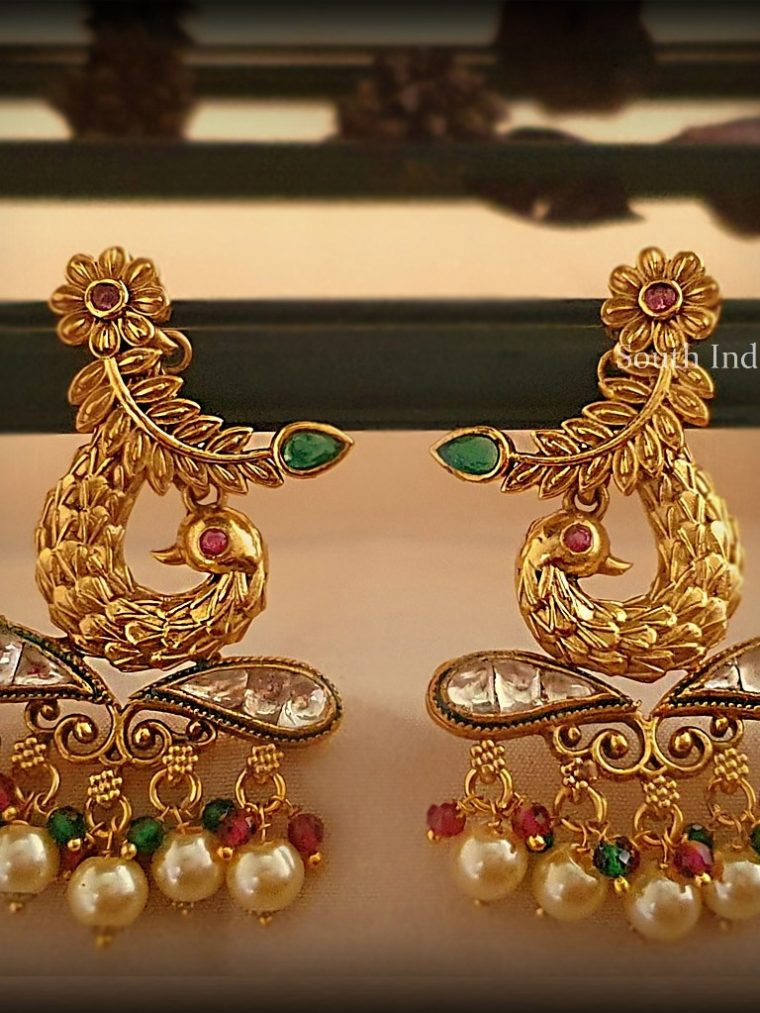 Ethnic Peacock Design Earrings