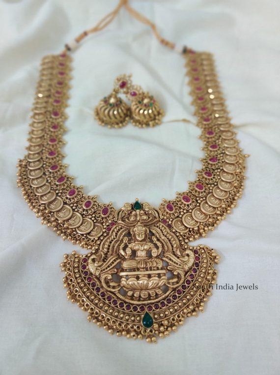 Extravagant Gold Bead Lakshmi Coin Haram-02