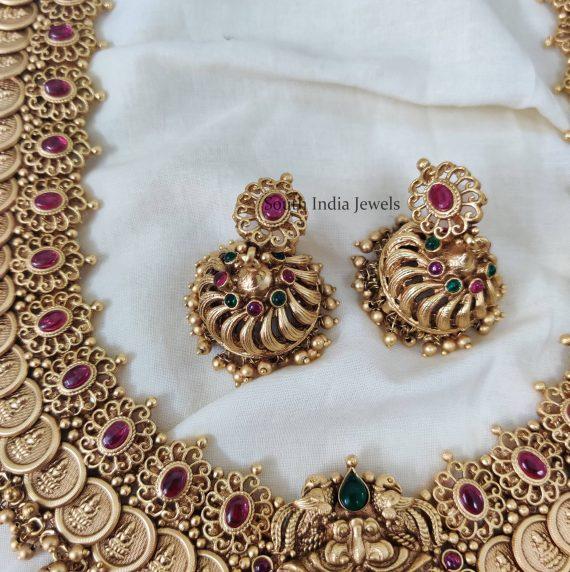 Extravagant Gold Bead Lakshmi Coin Haram-03