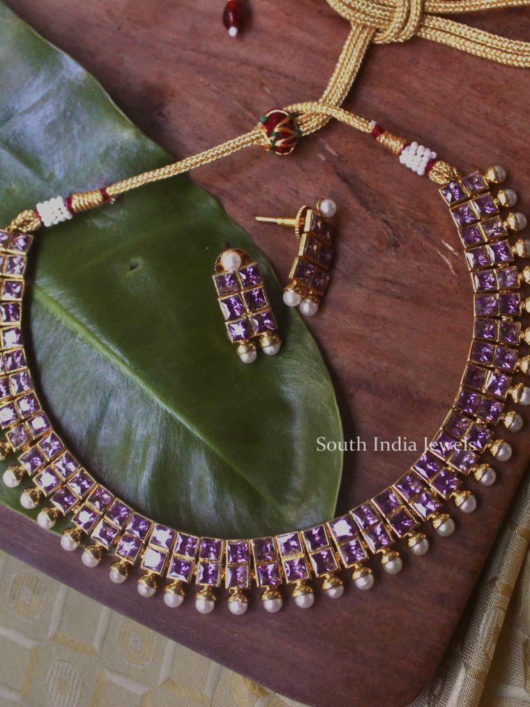 Fabulous Purple Stone Necklace-01