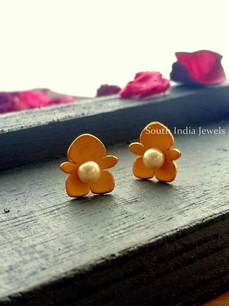 Gingerbread Designer Studs with Pearls-02