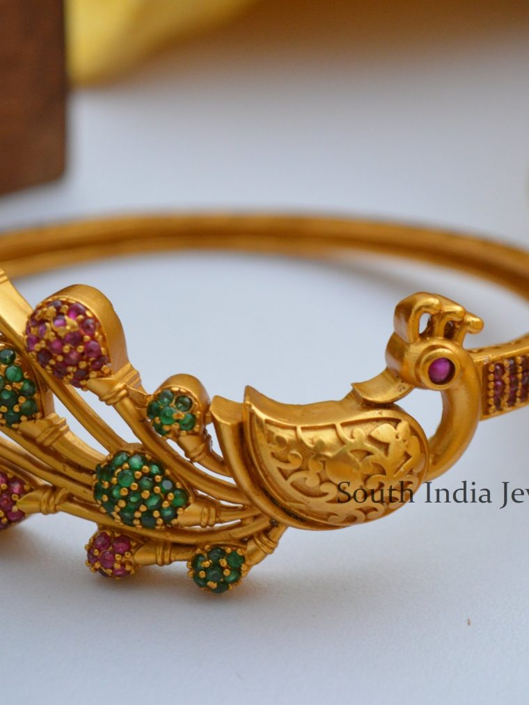 Gorgeous Multi Stone AD Peacock Bracelet (3)