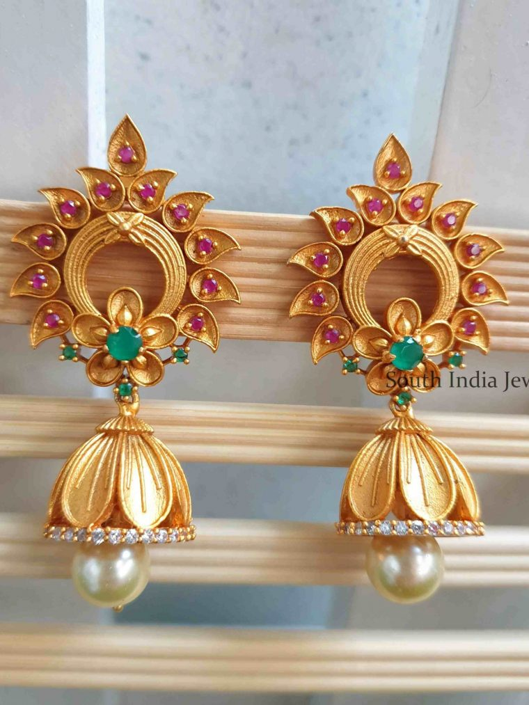 Gorgeous Multi Stone Jhumka