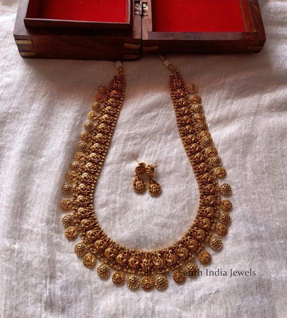 Graceful Lakshmi Coin Peacock Haram (3)