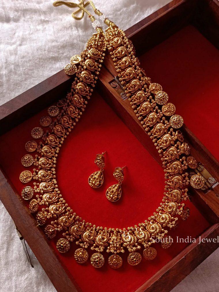 Graceful Lakshmi Coin Peacock Haram