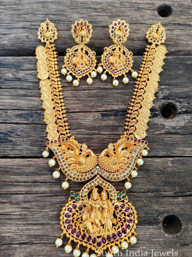 Graceful Radha Krishna Kasu Necklace (2)