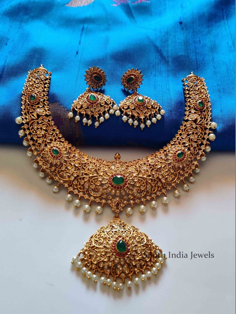 Grand Bridal Necklace and Earrings