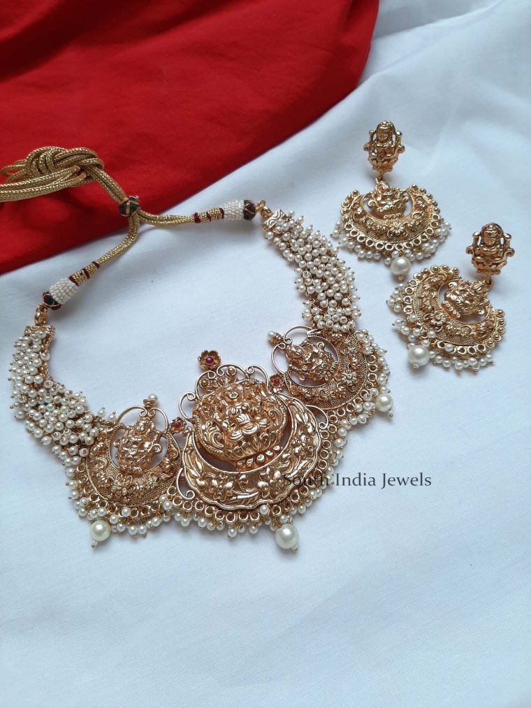 Grand Lakshmi Pearl Necklace