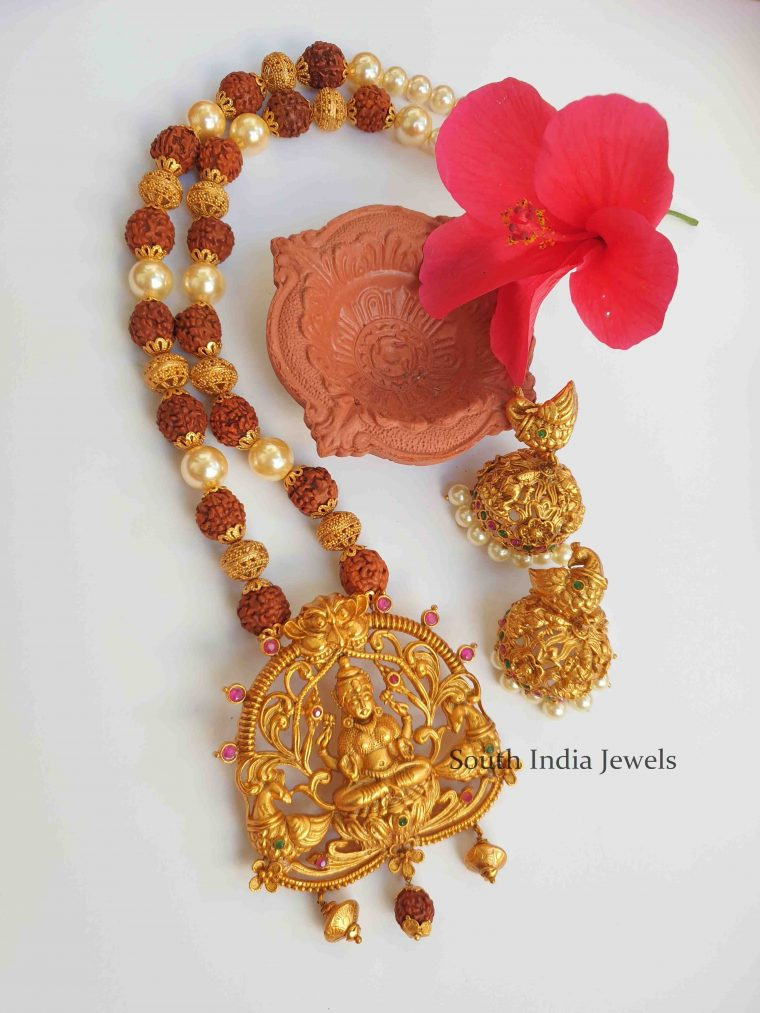 Grand Lakshmi Pendant Rudraksha Necklace (4)