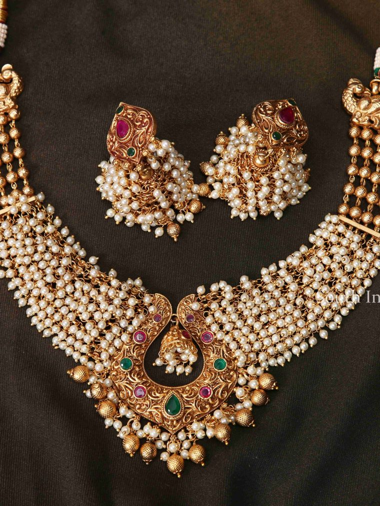Grand Ruby & Pearl Necklace