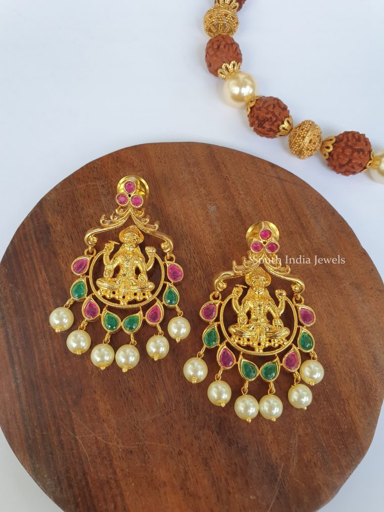 Imitation Lakshmi Design Chandbali Earrings