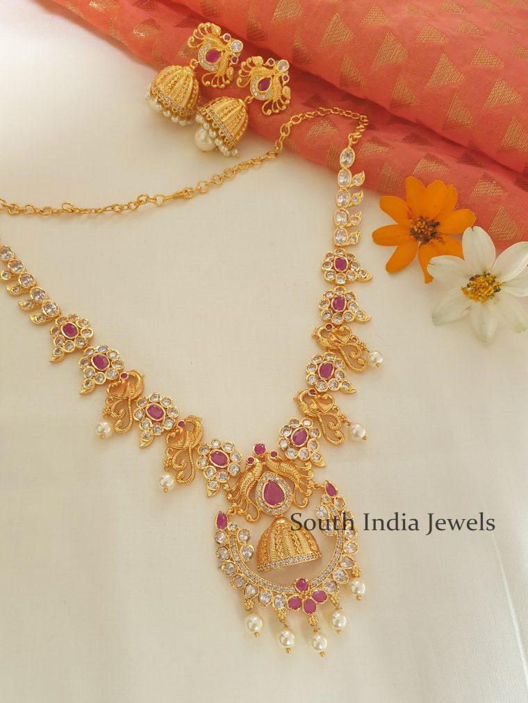 Imitation Uncut Stone Necklace