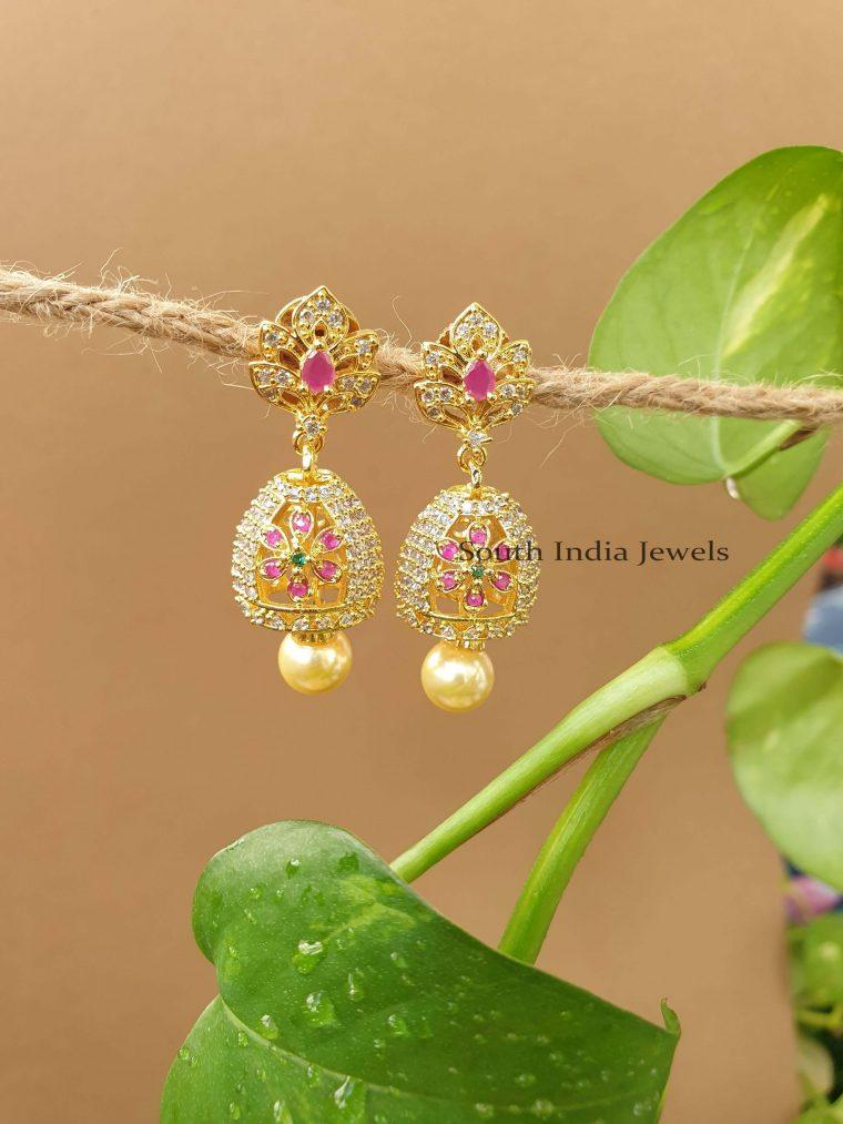 Lovely Flower Design Jhumka