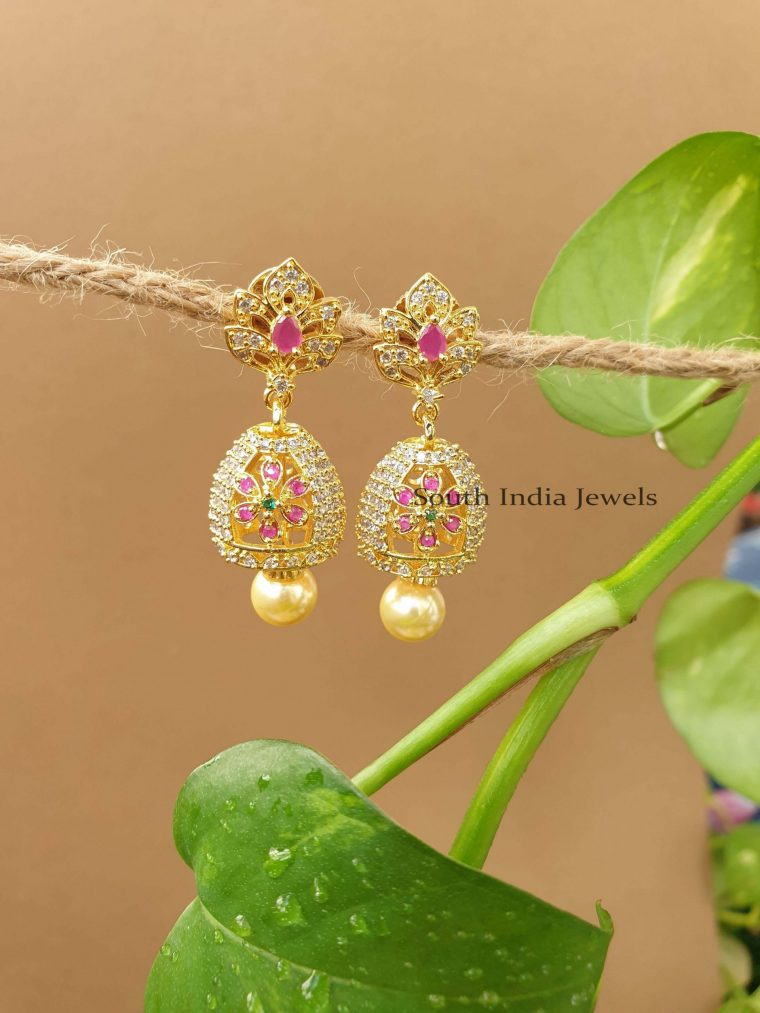 Lovely Flower Design Jhumka