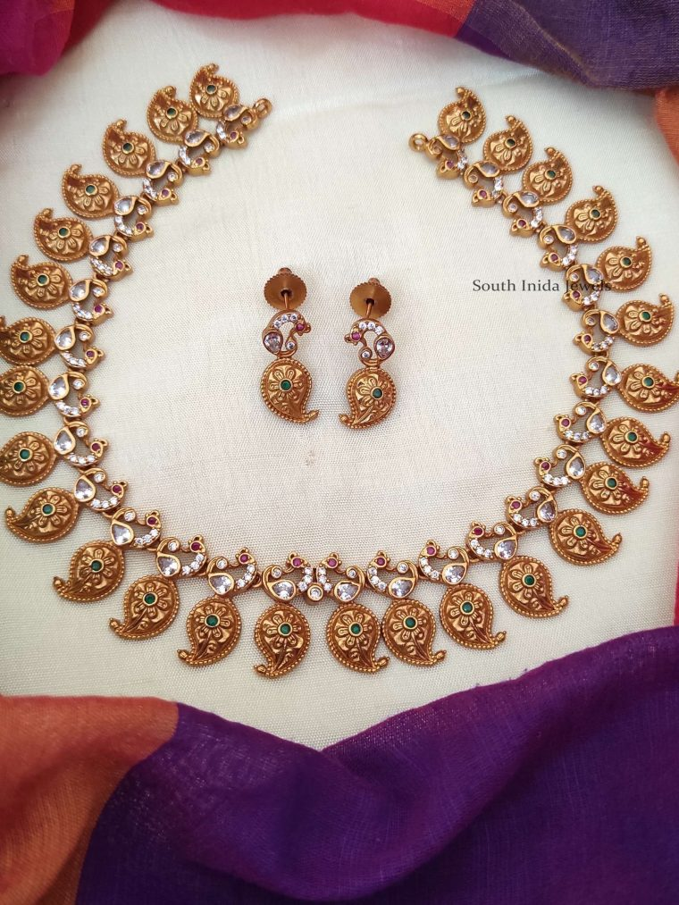 Mango Design Matte Finish Necklace