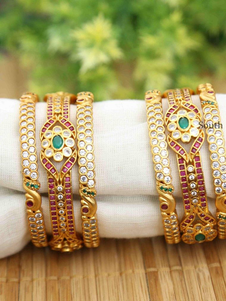 Mesmerizing Multi Stone Bangle Set-01