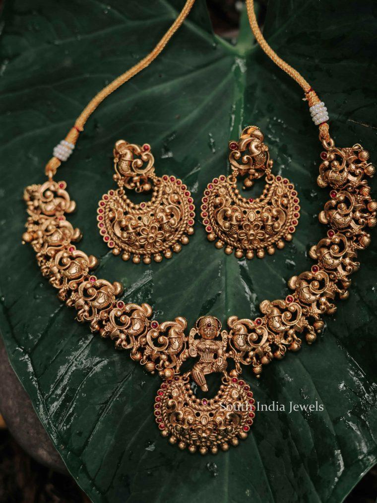Premium Matte Finish Nakshi Necklace-01