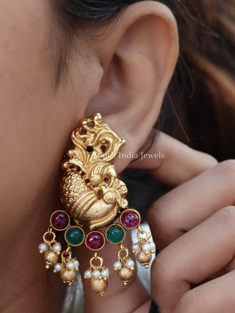 Pretty Peacock Design Earrings (3)