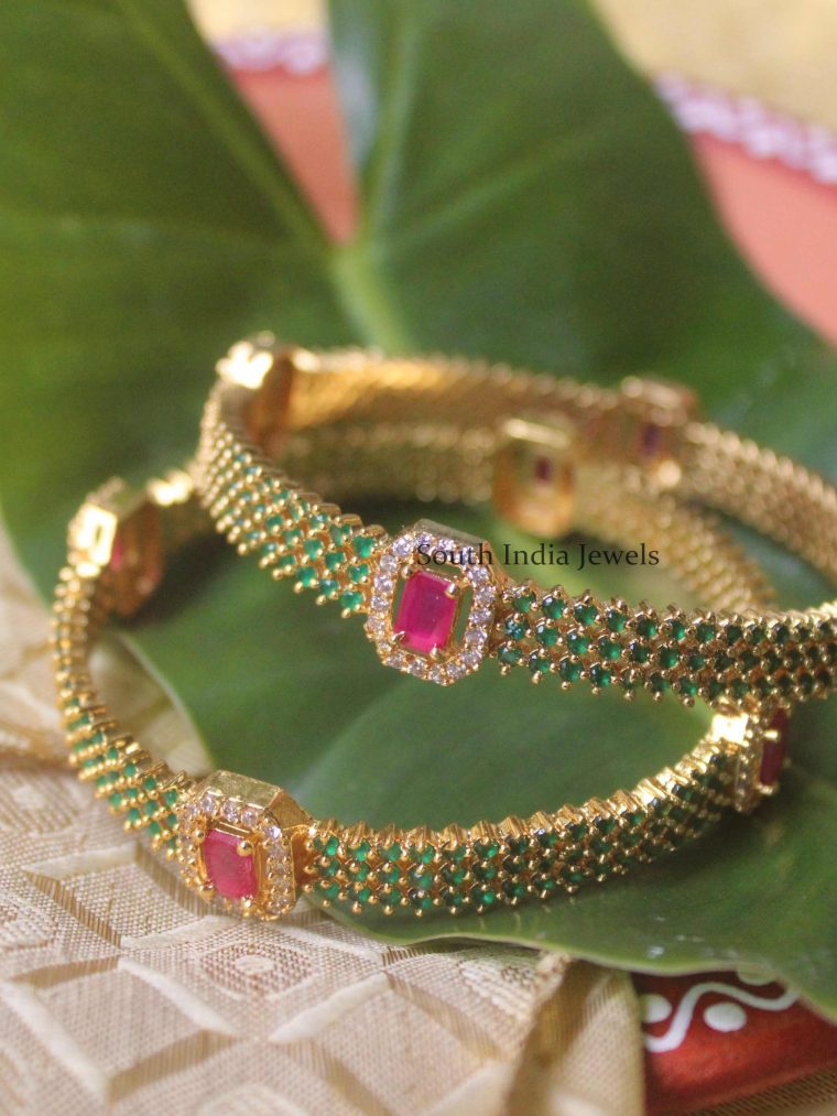 Stunning Emerald & Ruby Bangles