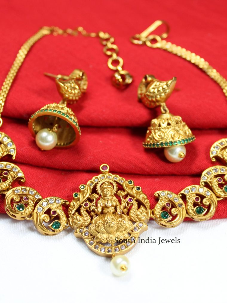 Stunning Lakshmi Mango Design Choker Set