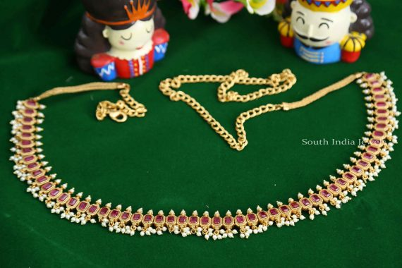 Stunning Pearl Hip Belt (2)