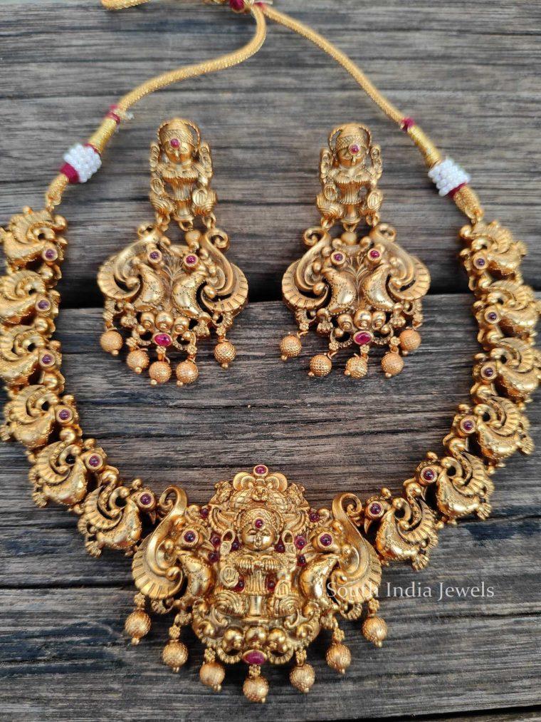 Traditional Lakshmi Pendant Necklace