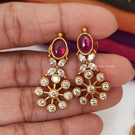 Traditional Navarathna Floral Necklace