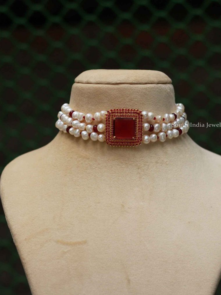 Traditional Pearl Choker Set