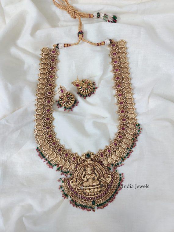 Traditional Temple Lakshmi Coin Haram-01