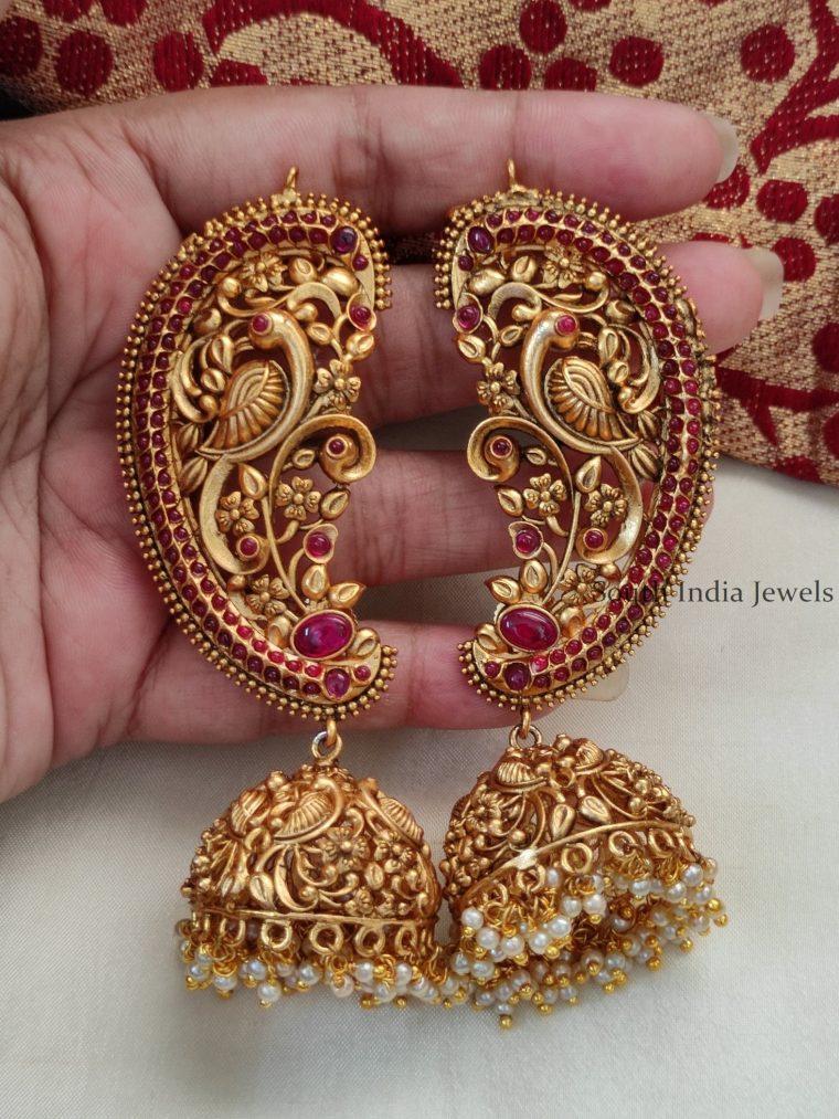 Trendy Ear Cuff Pearl Drop Jhumka