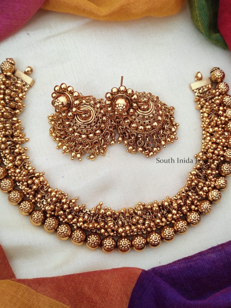 Trendy Golden Beads Loreal Necklace