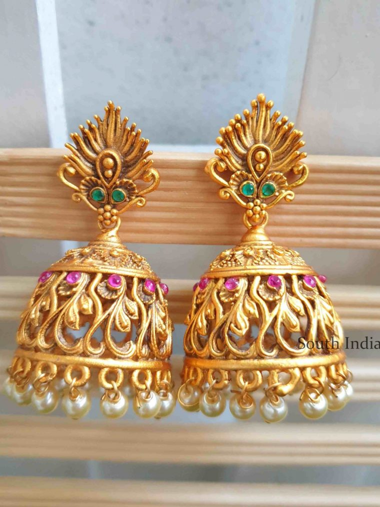 Unique Matte Finish Jhumka