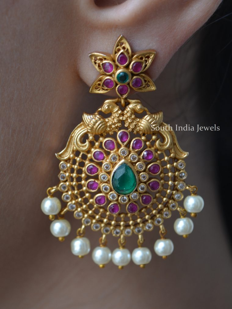 Adorned Stylish Chandbali Earrings-01