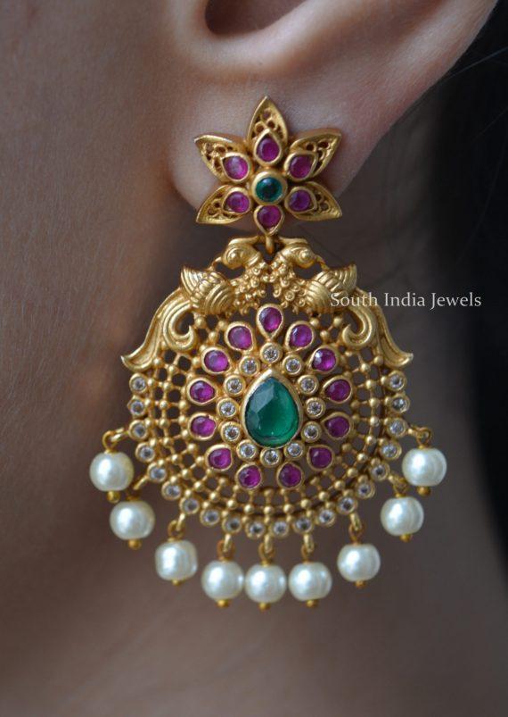 Adorned Stylish Chandbali Earrings-01