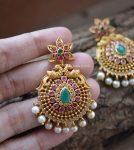 Adorned Stylish Chandbali Earrings-03