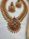 Antique Peacock Design Necklace (2)
