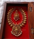 Beautful Mango Design Lakshmi Necklace