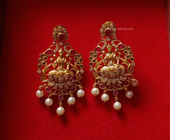 Beautful Mango Design Lakshmi Necklace (2)