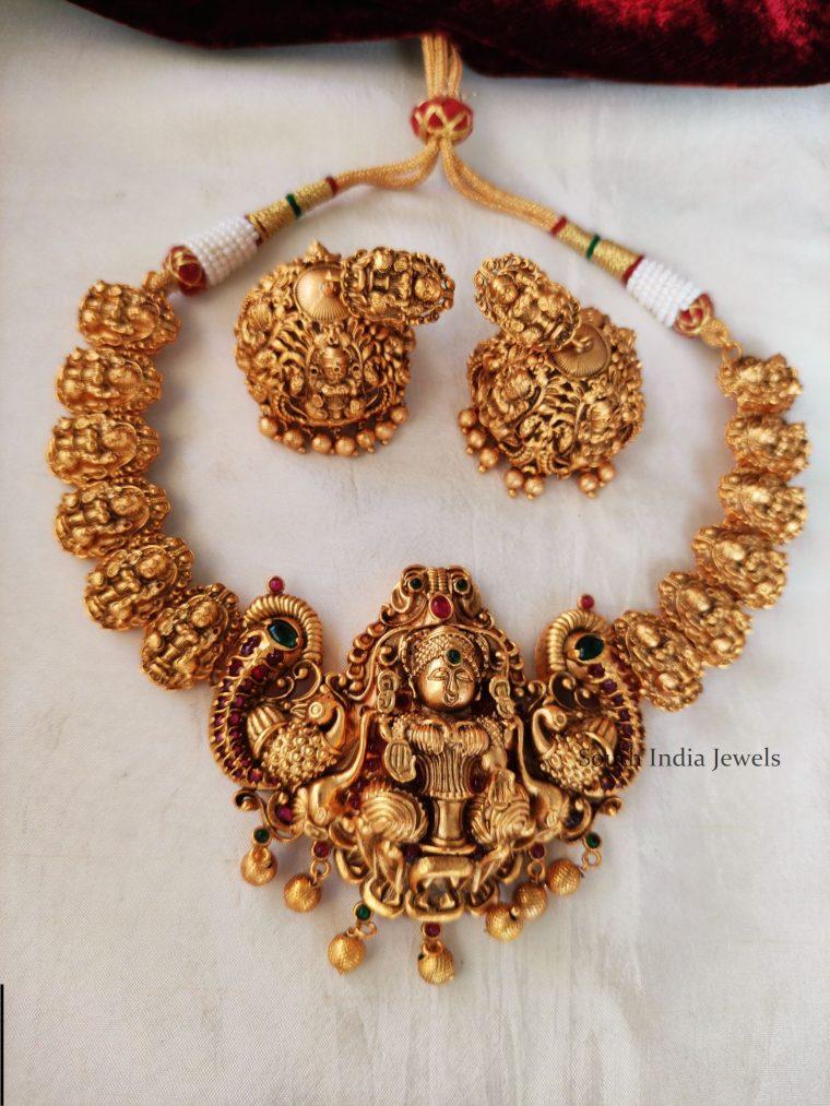 Beautiful Gold Look Alike Lakshmi Necklace