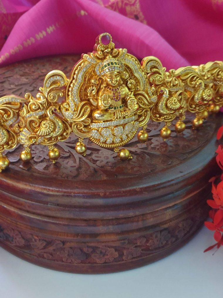 Beautiful Lakshmi Peacock Design Hipbelt (2)