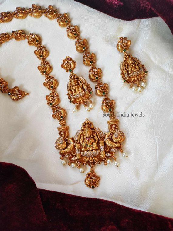 Beautiful Lakshmi Pendant Long Haram