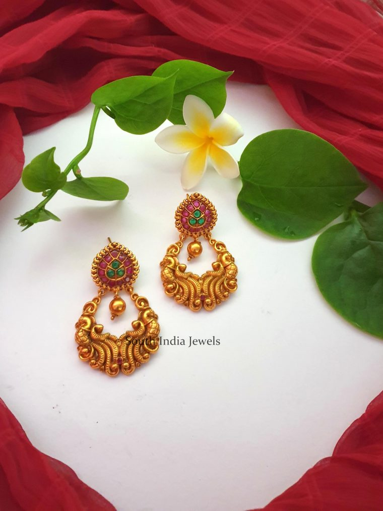 Beautiful Multi Stone Chandbali Earrings